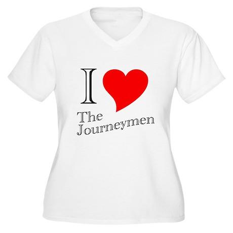 Journeymen Women's Plus Size V-Neck T-Shirt
