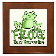 Fully Rely on God Framed Tile