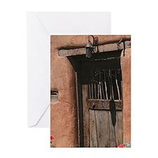 Santa Fe Doorway Greeting Card