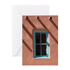 Santa Fe Window Greeting Card