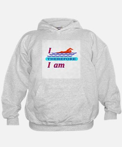 i swim therefore i am Hoodie