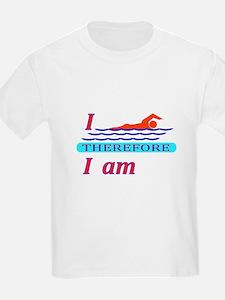 i swim therefore i am T-Shirt