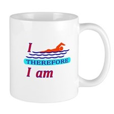 i swim therefore i am Mug