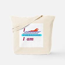 i swim therefore i am Tote Bag