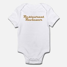 Restaurant Reviewer Infant Bodysuit