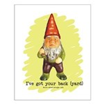 Gnome Got Your Back Small Poster