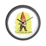 Gnome Got Your Back Wall Clock