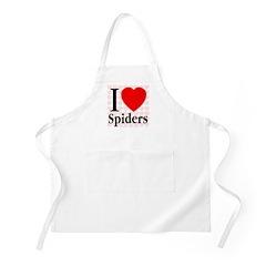 I Love Spiders BBQ Apron