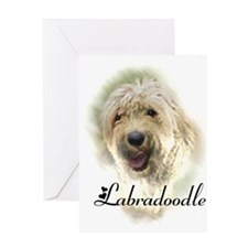 Labradoodle Art Greeting Card