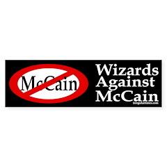 Wizards Against McCain bumper sticker