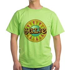 Julie Name Bright Flower T-Shirt