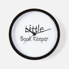 Little Book Keeper Wall Clock