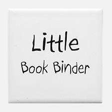 Little Book Binder Tile Coaster