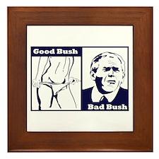 Good bush bad bush Framed Tile