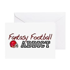 Fantasy Football Addict Greeting Card