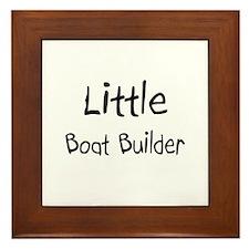Little Boat Builder Framed Tile