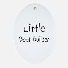 Little Boat Builder Oval Ornament