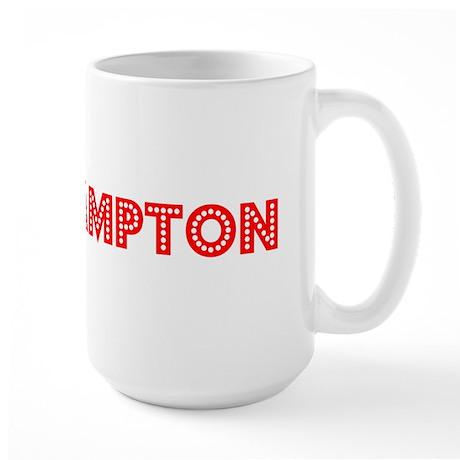 Retro Southampton (Red) Large Mug