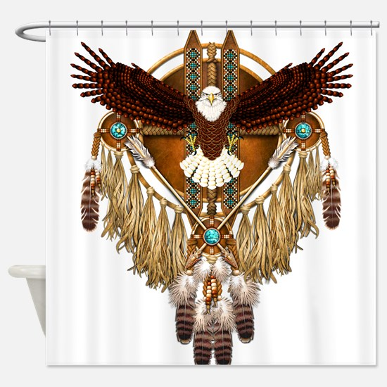Bald Eagle Mandala Shower Curtain