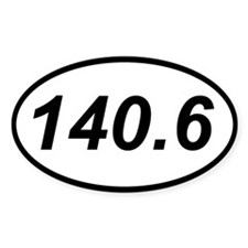 140.6 triathlon sticker (oval)