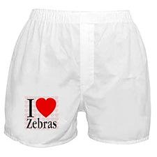I Love Zebras Boxer Shorts