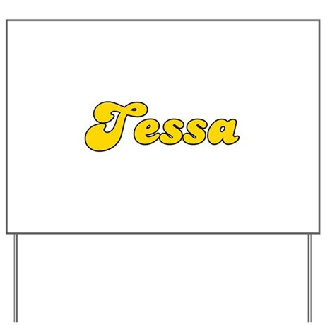 Retro Tessa (Gold) Yard Sign