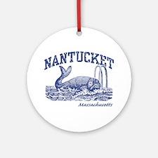 Nantucket Massachusetts Round Ornament