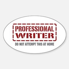 Professional Writer Oval Decal