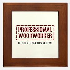 Professional Woodworker Framed Tile