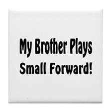 Cute Big brother basketball Tile Coaster