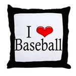 I Heart Baseball Throw Pillow