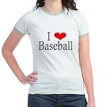 I Heart Baseball Jr. Ringer T-Shirt