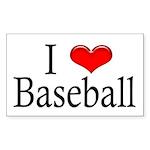 I Heart Baseball Rectangle Sticker