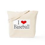 I Heart Baseball Tote Bag