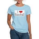 I Heart Baseball Women's Pink T-Shirt