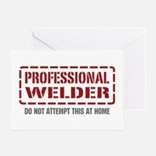 Professional Welder Greeting Card