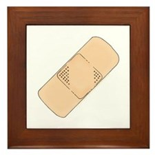 Cute Bandage Art Framed Tile