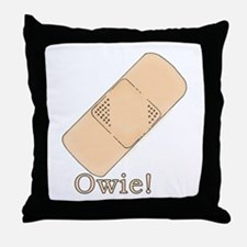 Cute Bandage Art Throw Pillow