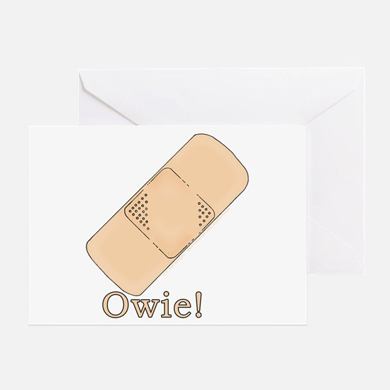 Cute Bandage Art Greeting Card