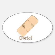 Cute Bandage Art Oval Decal