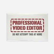 Professional Video Editor Rectangle Magnet