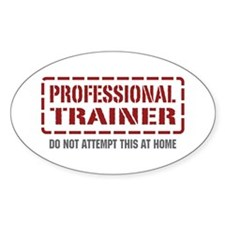 Professional Trainer Oval Decal