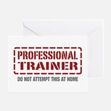 Professional Trainer Greeting Card
