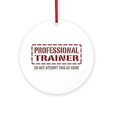 Professional Trainer Ornament (Round)