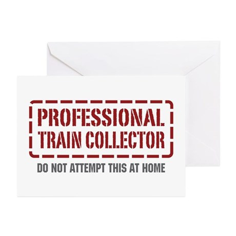 Professional Train Collector Greeting Cards (Pk of