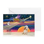 XmasStar/PBGV (#2) Greeting Card