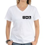 EAT SLEEP ROLLERBLADE Women's V-Neck T-Shirt