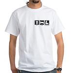 EAT SLEEP ROLLERBLADE White T-Shirt
