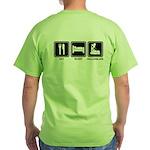 EAT SLEEP ROLLERBLADE Green T-Shirt