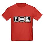 EAT SLEEP ROLLERBLADE Kids Dark T-Shirt